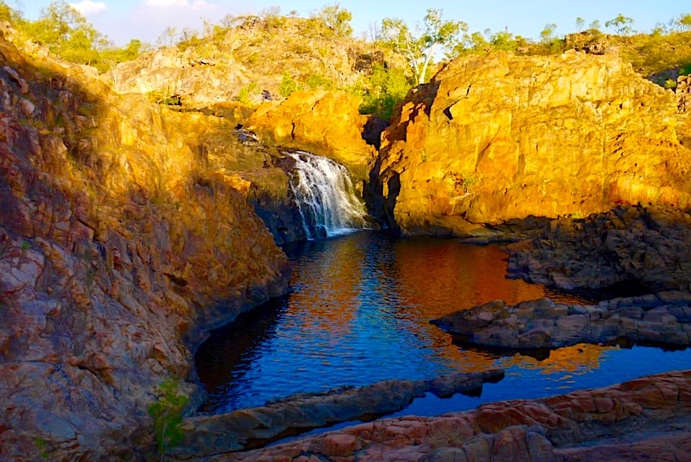 Edith Falls - Atemberaubend: Sonnenuntergangsstimmung am Upper Pool - Nitmiluk National Park - Northern Territory