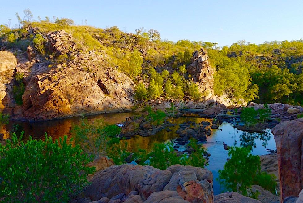 Edith Falls - Faszinierende Farben: Upper Pool, wenn die Sonne unter geht - Nitmiluk National Park - Northern Territory