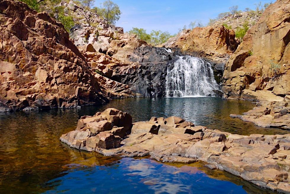 Leliyn Edith Falls - Upper Pool & Wasserfälle laden zum Baden & Sonnen ein - Nitmiluk National Park - Northern Territory
