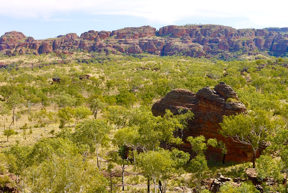 Faszinierender Goorrandalng Walk im Keep River National Park - Ausblick vom Felsplateau mit Bungle Bungles Feeling - Northern Territory