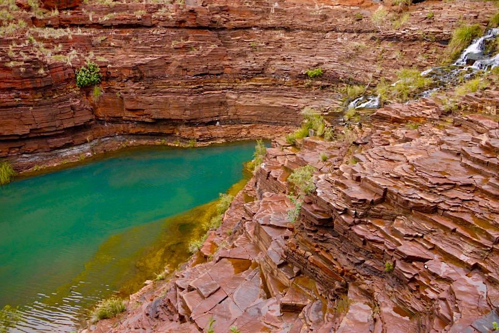 Karijini National Park - Faszinierend schön: Fortescue Falls & Pool in der Dales Gorge - Pilbara, Western Australia