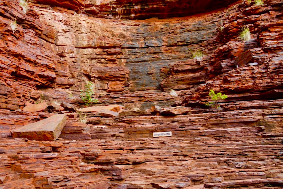 Karijini National Park - Hancock Gorge: natürliches Amphitheatre - Pilbara - Western Australia