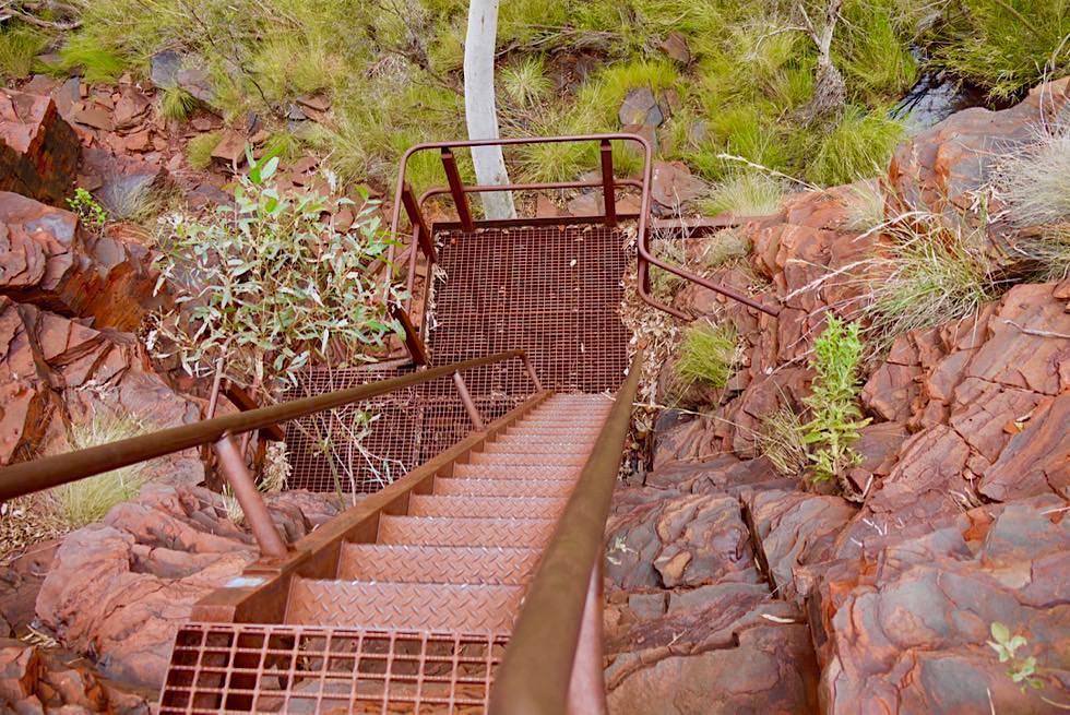Karijini National Park - Abstieg Hancock Gorge - Pilbara - Western Australia