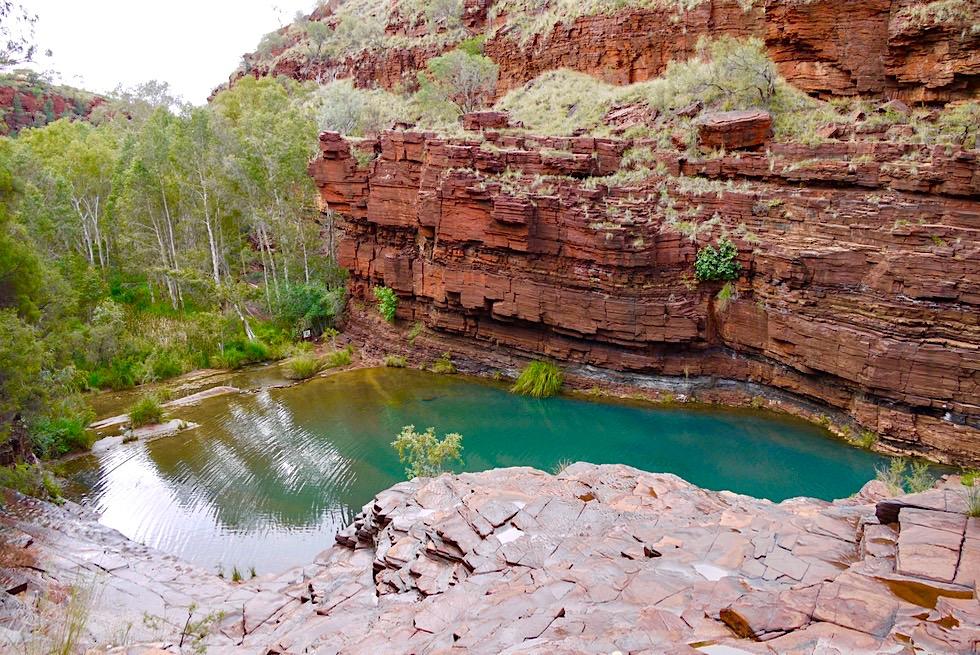 Karijini National Park - Ostseite: Fortescue Falls & Ausblick auf den Fortescue Pool - Pilbara - Western Australia