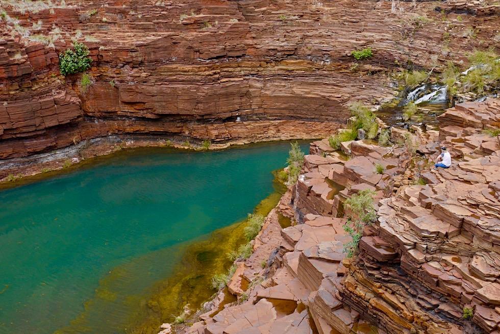 Karijini National Park - Wunderschöne Fortescue Falls & erfrischender Pool - Pilbara - Western Australia