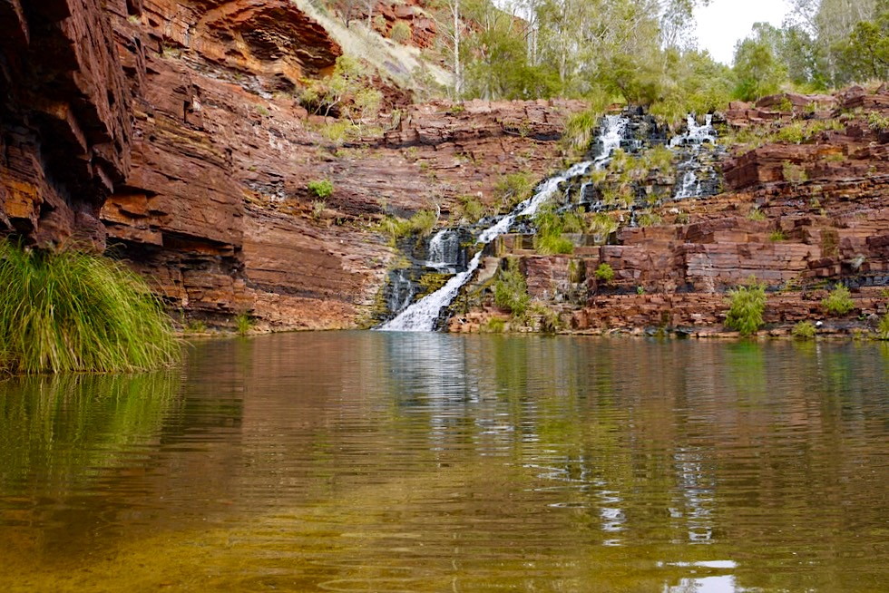 Karijini National Park - Überquerung Fortescue Pool - Pilbara, Western Australia