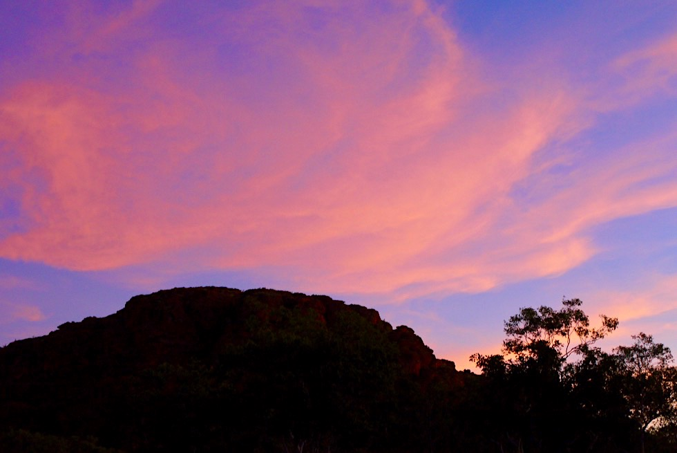 Keep River National Park - Faszinierend schöner Sonnenuntergang beim Jarnem Campground - Northern Territory