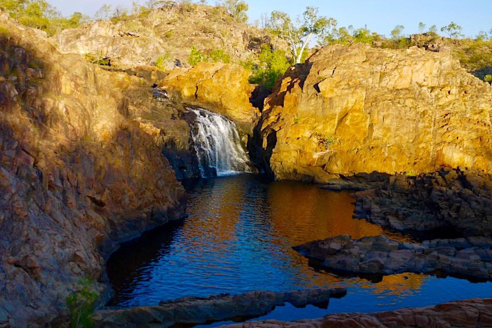 Leliyn oder Edith Falls - Faszinierende Spiegelungen & Sonnenuntergang am Upper Pool - Nitmiluk National Park - Northern Territory