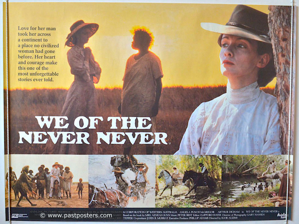 "Mataranka Homestead & Restaurant - 12 Uhr täglich ""We of the Never Never - @pastposters.com - Northern Territory"