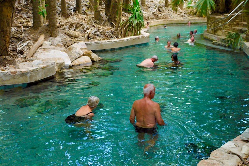 Mataranka Thermal Pool & Rainbow Spring - Badepool mit kristallklarem Quellwasser - Elsey National Park - Northern Territory
