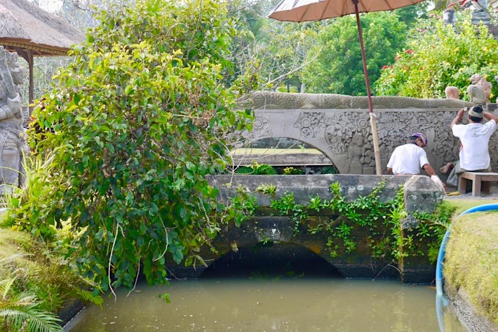 Pura Taman Ayun - Renovierungsarbeiten im Innern des Tempels - Mengwi, Bali