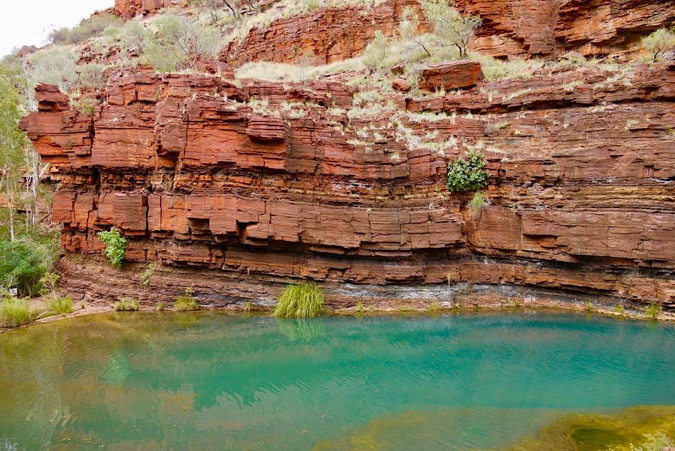 Start & Ende der Dales Gorge Wanderung - Karijini National Park, Ostteil - Pilbara, Western Australia