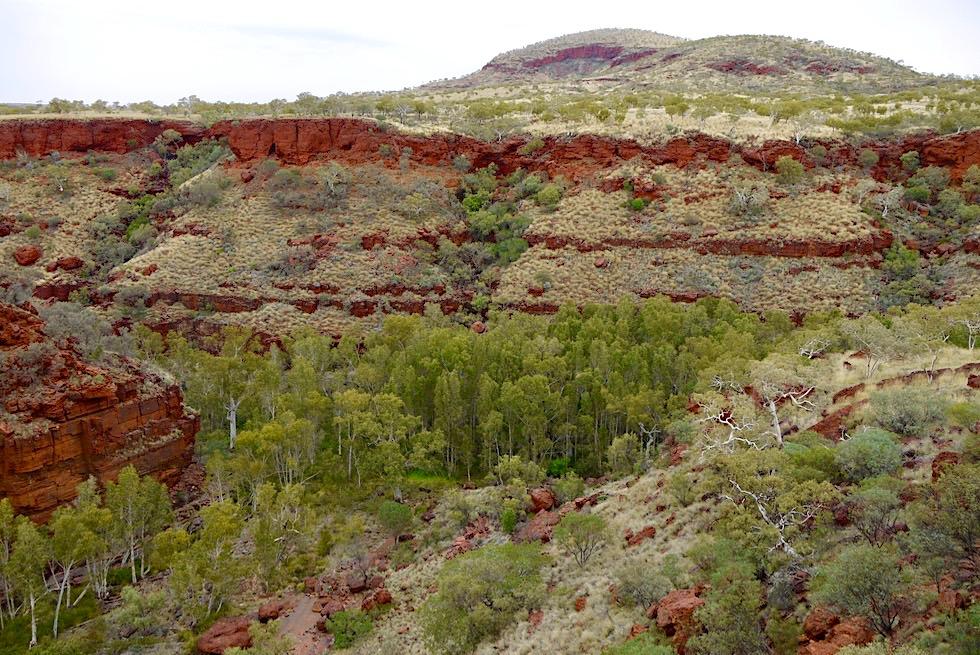 Three Ways Lookout - Sensationeller Ausblick auf die Dales Gorge - Karijini National Park - Pilbara, Western Australia