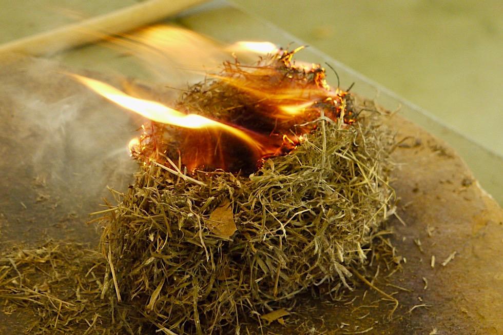 Top Didj erklärt Aboriginal Kultur - Kunst des Feuerbohrens - Katherine - Northern Territory