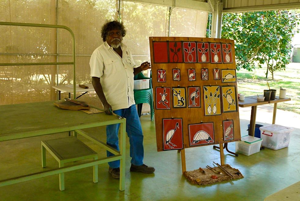 Top Didj & Aboriginal Kultur: Aboriginal Motive malen mit Manuel - Katherine Northern Territory