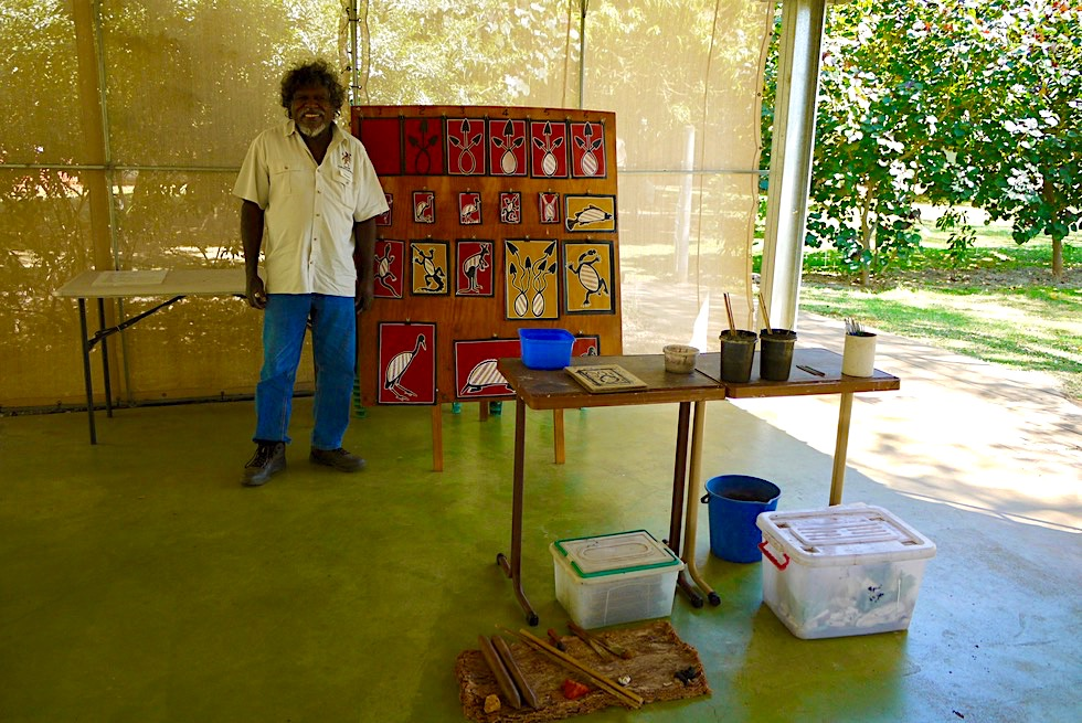 Top Didj - Manuel spricht & erklärt Aboriginal Kultur - Katherine - Northern Territory