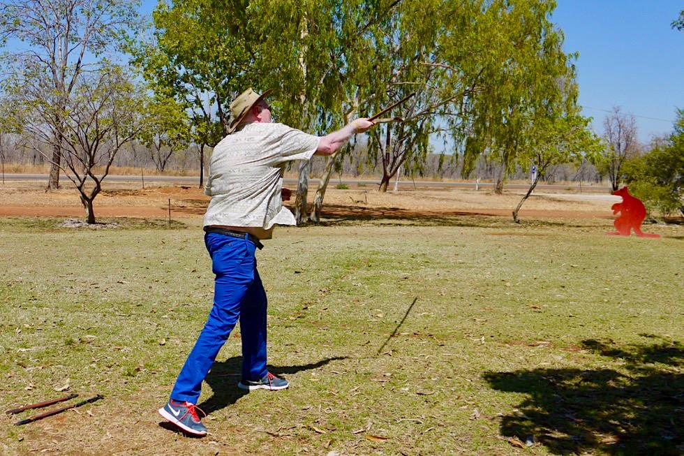 Top Didj & Aboriginal Kultur - Woomera & Speer Werfen Übungen - Katherine - Northern Territory