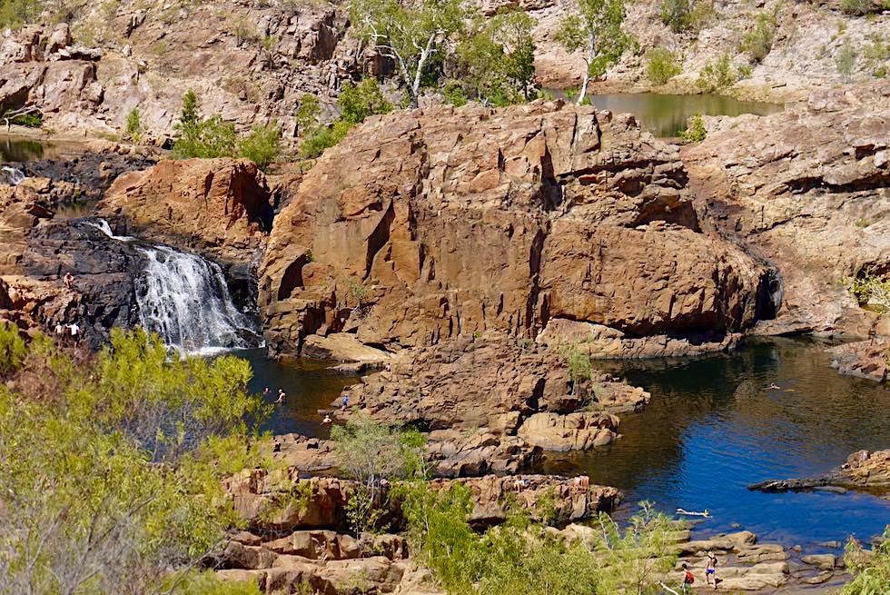 Herrlicher Ausblick auf Upper Pool, Wasserfall & Edith River - Edith Falls im Nitmiluk NP - Northern Territory