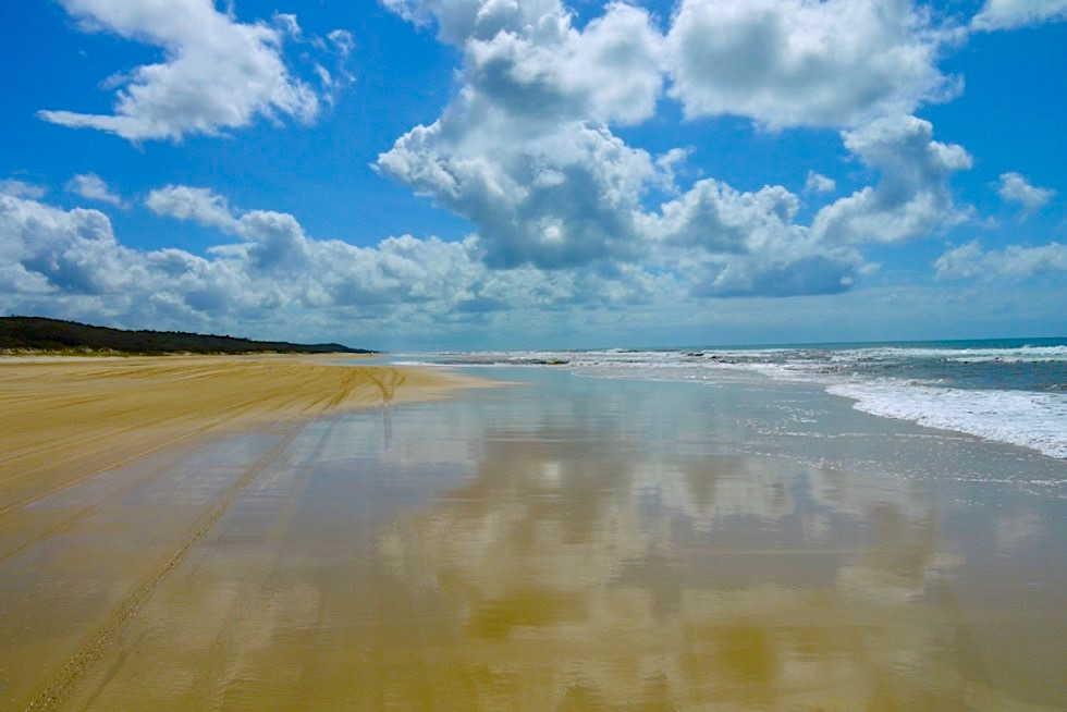 Fraser Island - Faszination 75 Mile Beach im Westen der Insel - Great Sandy National Park - Queensland