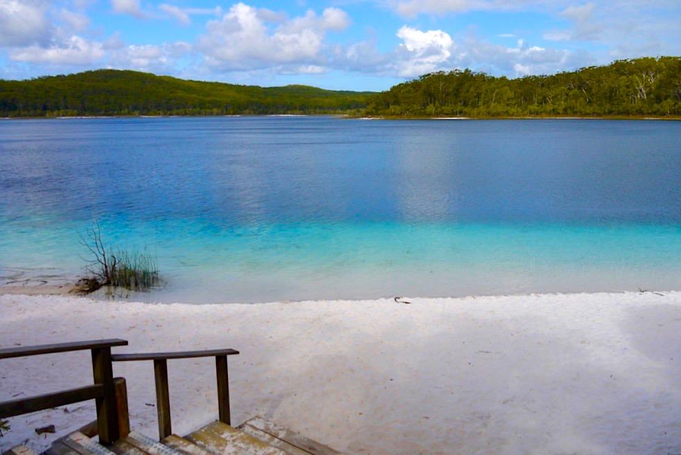 Fraser Island - Wunderschöner Lake McKenzie: eines der Fraser Hightlights - Queensland