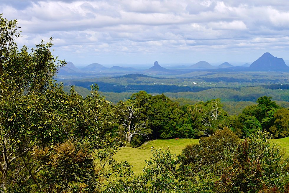 Glass House Mountains - Ausblick Mary Cairncross - Sunshine Coast Hinterland - Queensland
