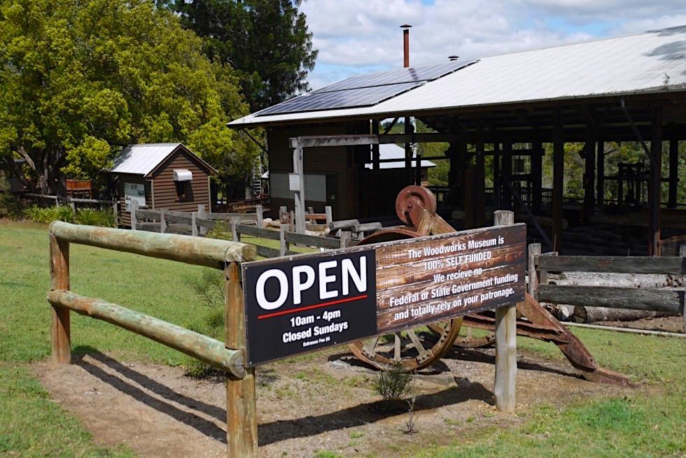 Gympie: ein Besuch wert - z.B. die Woodfactory Museum - Queensland