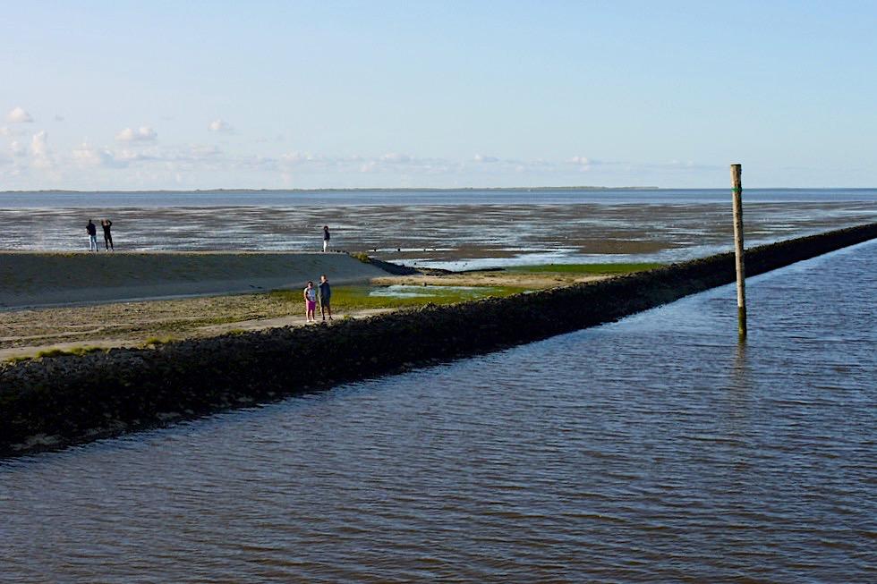 Harlesiel - Hafenausfahrt nach Wangerooge - Wattenmeer & Nordsee