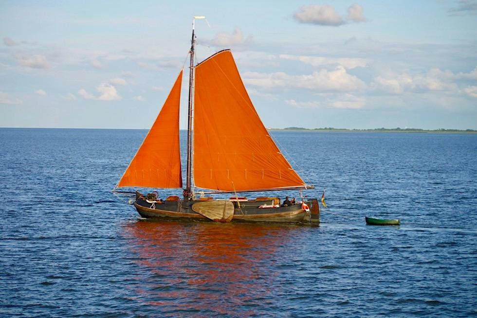 Von Harlesiel nach Wangerooge - Altes schönes Segelboot - Ostfriesische Inseln - Nordsee
