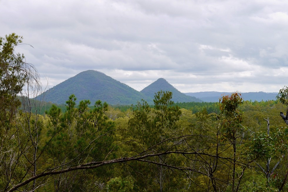 Mt Tibrogaran - Ausblick auf The Twins - Glasshouse Mountains - Queensland