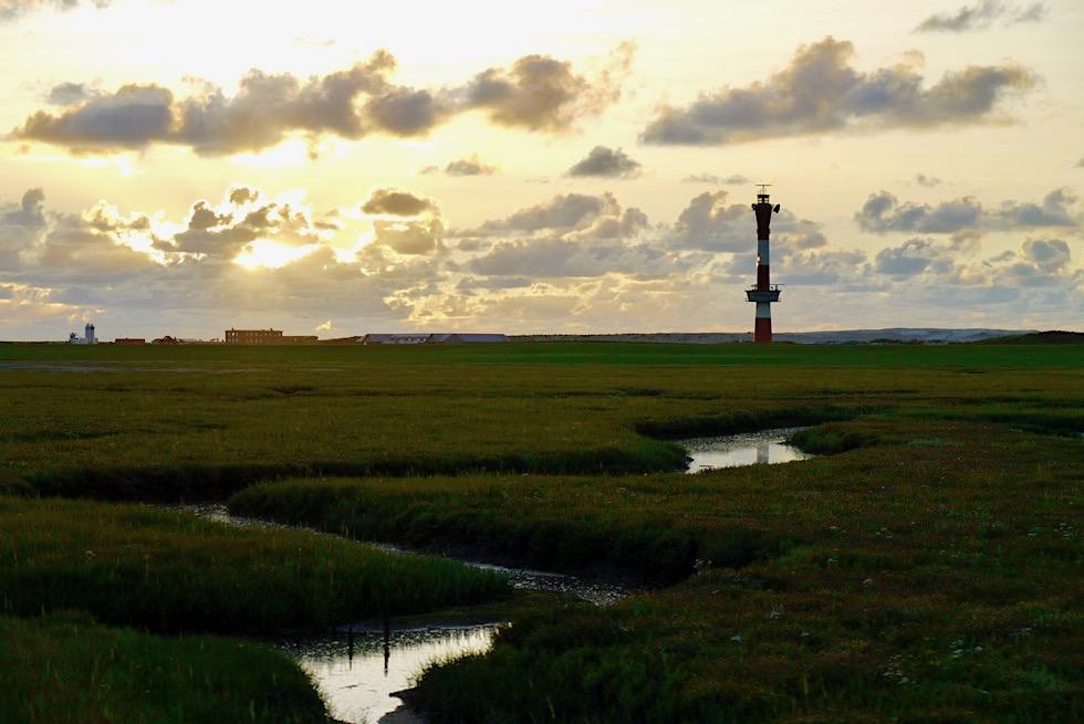 Wangerooge - Traumhafte Abendstimmung: Westaußengroden & Neuen Leuchtturm - Ostfriesische Inseln - Nationalpark Wattenmeer & Nordsee