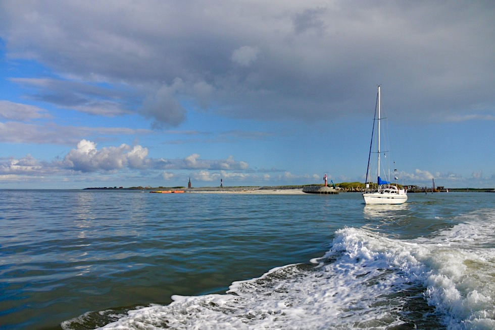 Wangerooge - Hafenausfahrt Westanleger - Ostfriesische Inseln - Nationalpark Wattenmeer & Nordsee