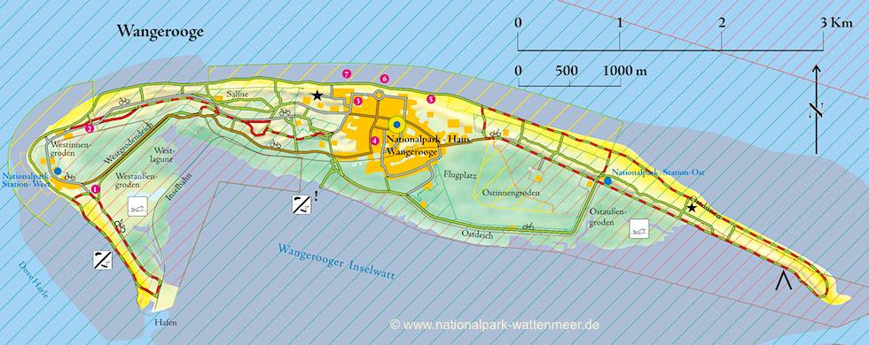 Wangerooge Karte: ©nationalpark-wattenmeer.de - Ostfriesische Inseln