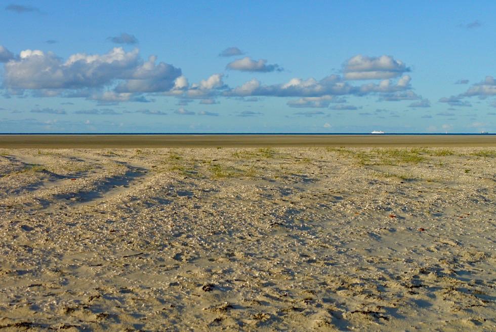 Wangerooge - Weite Sandbank am Ostende der Insel - Ostfriesische Inseln - Nordsee