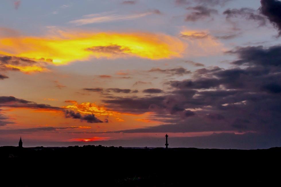 Wangerooge - Sonnenuntergang von der Ostseite gesehen - Ostfriesische Inseln - Nordsee
