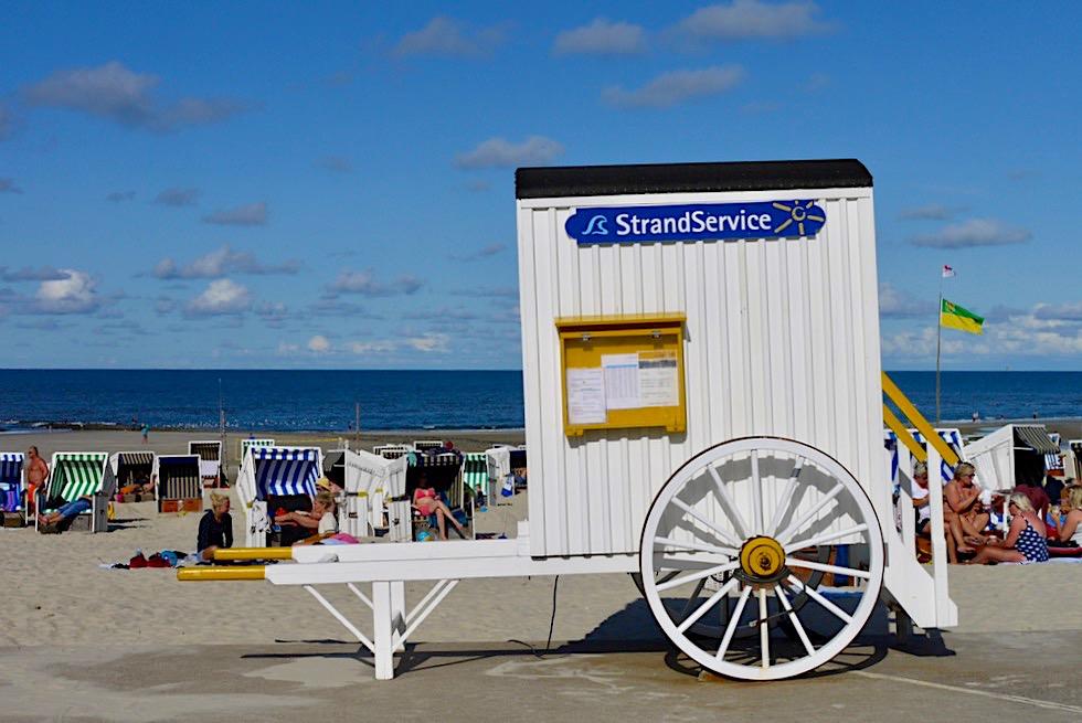 Wangerooge - Strandkarren heute Servicestationen - Ostfriesische Inseln - Nationalpark Wattenmeer - Nordsee