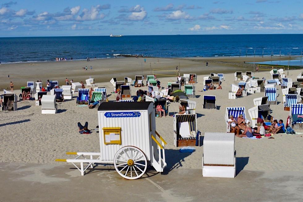 Wangerooge - Wunderschöne Strandpromenade mit Strandkörben & Strandwagen - Ostfriesische Inseln - Nordsee