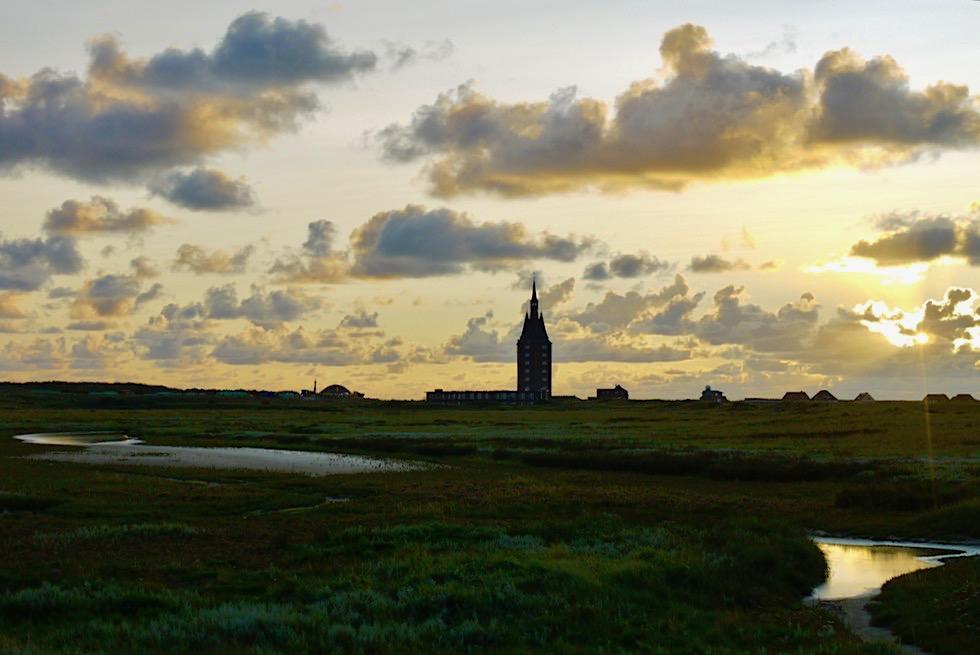 Wangerooge - Faszinierende Stimmung: Wahrzeichen Westturm im Abendlicht - Ostfriesische Inseln - Nationalpark Wattenmeer & Nordsee