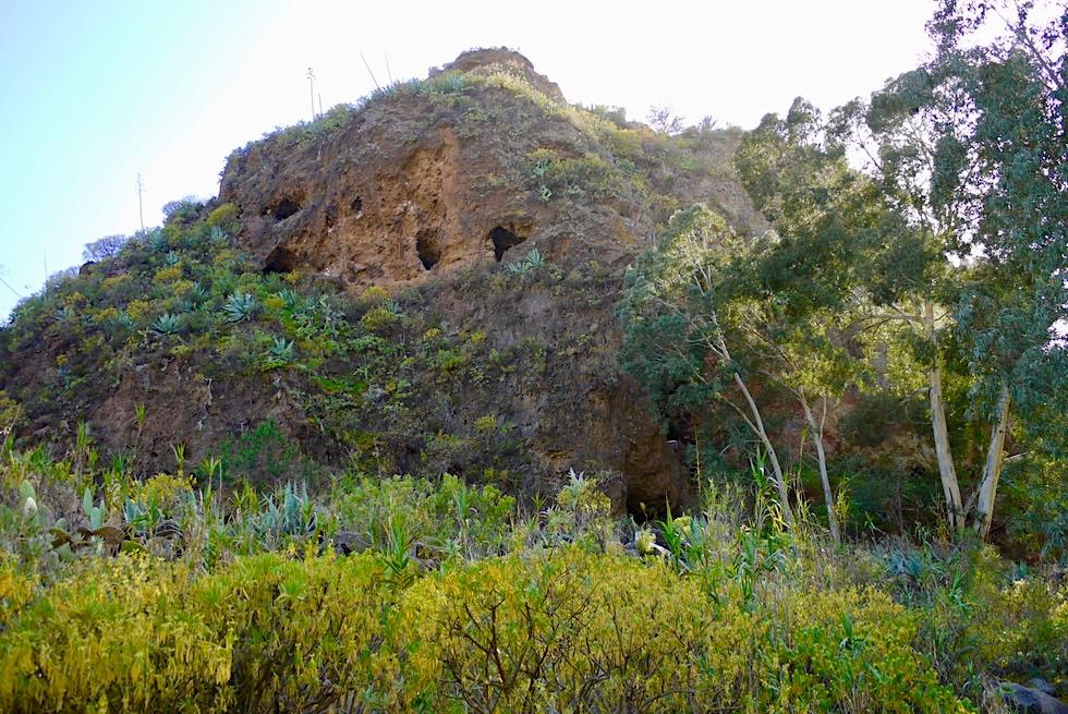 Barranco de San Miguel Wanderung - Roque: Felsen mit Wohnhöhlen - Valsequillo de Gran Canaria