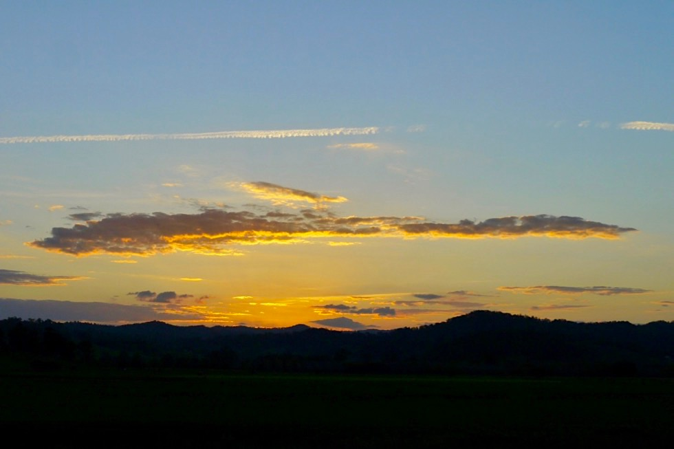 Border Ranges - Sonnenuntergang auf dem Summerland Way - New South Wales