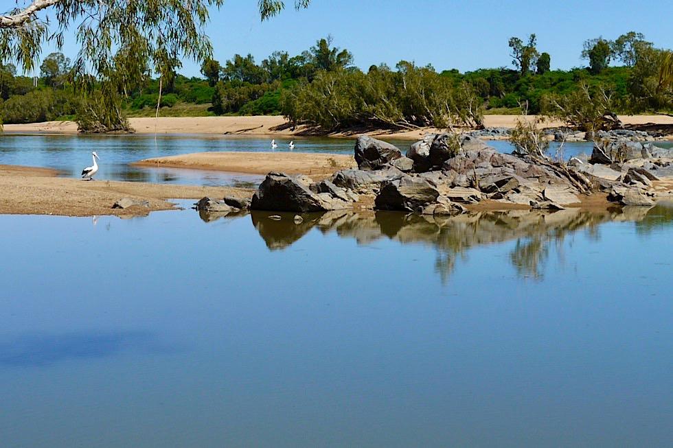 Burdekin River in der Nähe von Charters Towers - Zweitwichtigster Fluss in Australien - Queensland