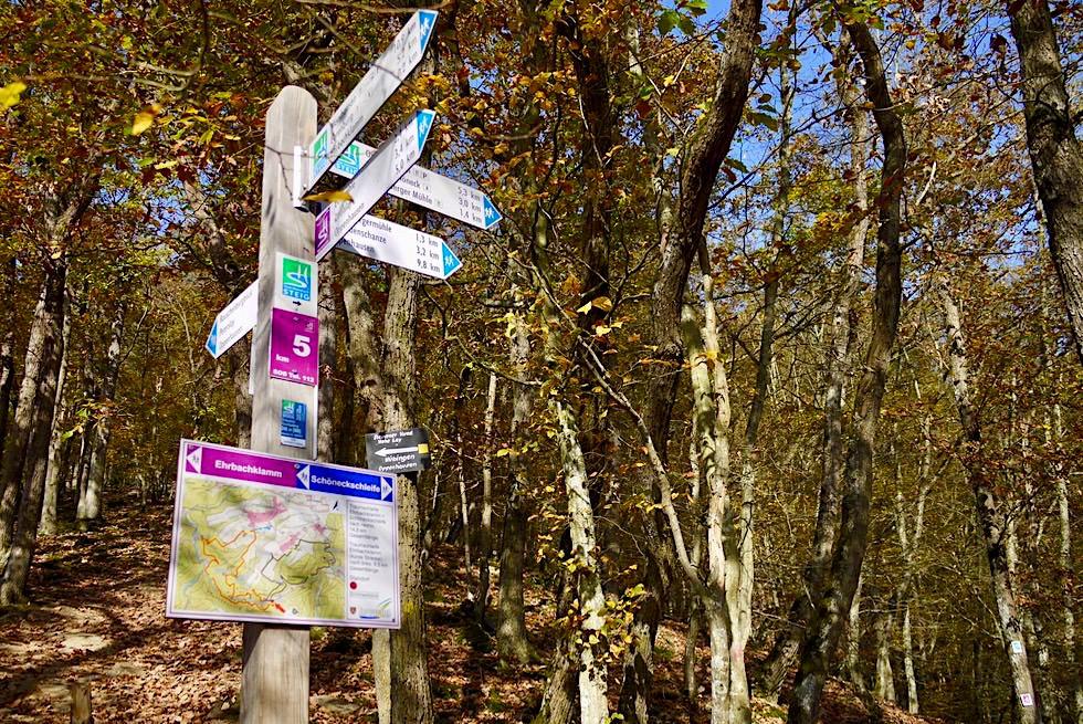 Traumschleife Ehrbachklamm - Schilderwald beim Abzweig Schöneck-Schleife - Rheinland-Pfalz