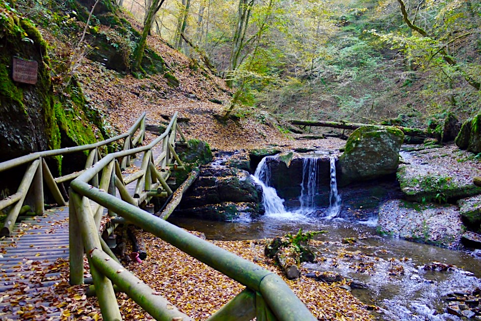 Traumschleife Ehrbachklamm - Kleiner Wasserfall - Hunsrück-Wanderung - Rheinland-Pfalz
