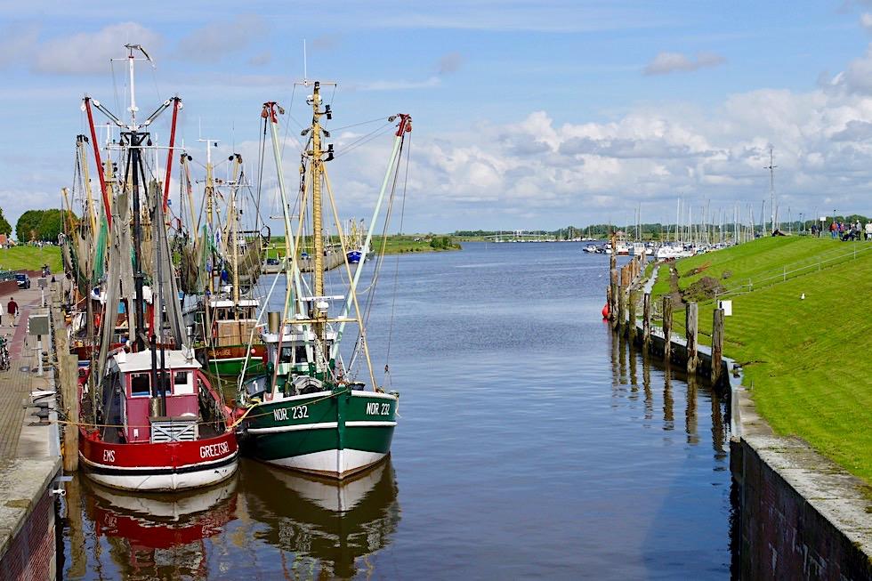 Greetsiel - Ausblick auf Hafen & Krabbenkutter-Flotte - Krummhörn - Ostfriesland
