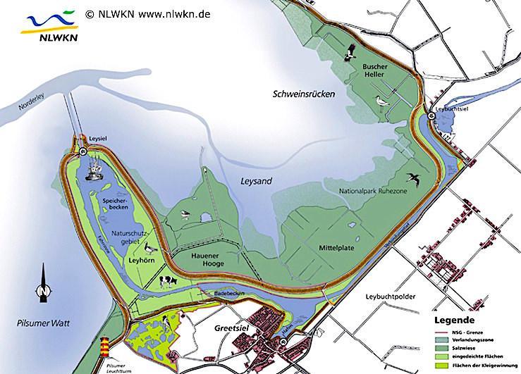 Leybucht-Nase & Leyhörn - Greetsiel - Krummhörn - Ostfriesland