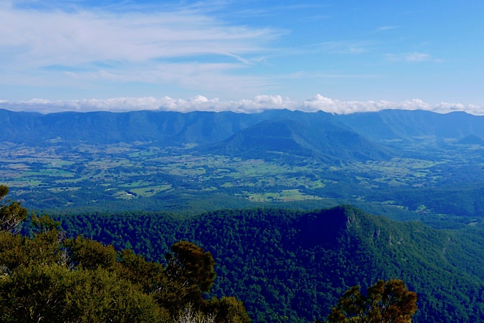 Mt Warning - Ausblick vom Gipfel auf Tweed Valley - Wollumbin National Park - New South Wales
