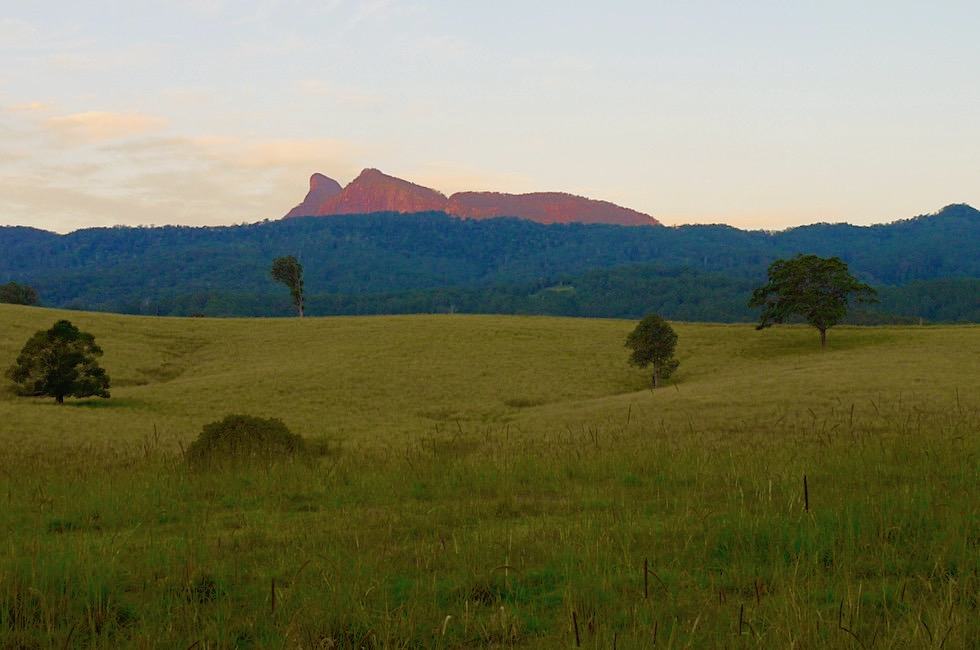 Mt Warning & Tweed Valley im Licht des Sonnenuntergangs - New South Wales