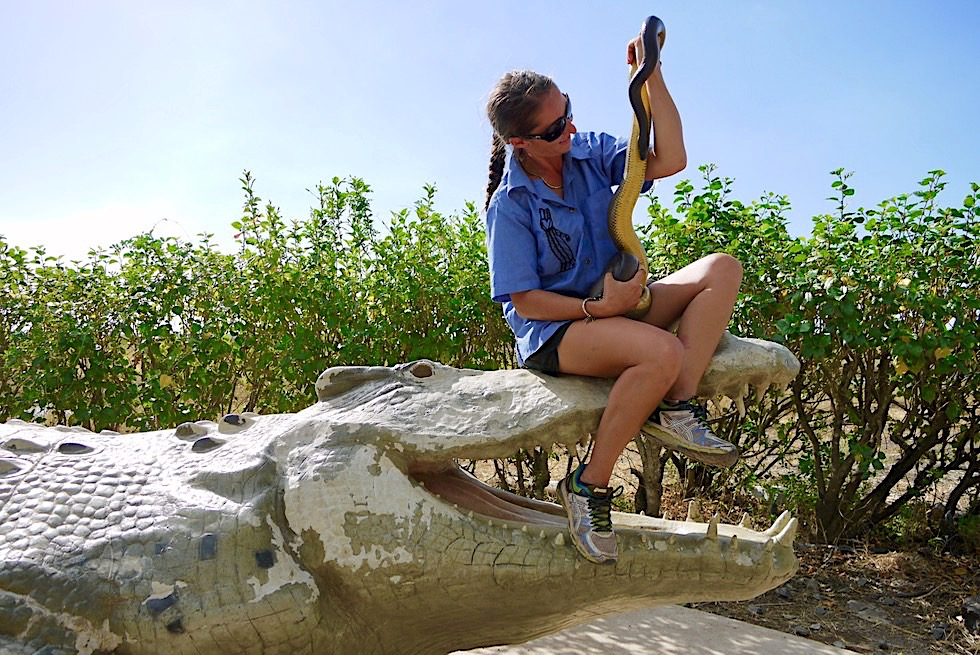 Spectacular Jumping Crocodile Cruise - Schlangen-Show zum Schluss - Adelaide River - Northern Territory