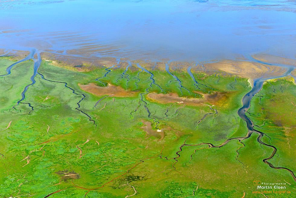 Spiekeroog von oben - die grüne Insel - Ostfriesische Inseln