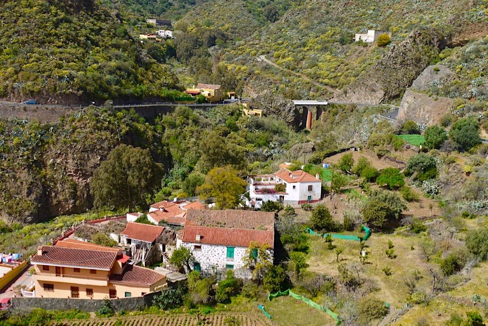 Valsequillo - Ausblick vom Ortszentrum auf ländliche Idylle, Täler & Berge - Gran Canaria