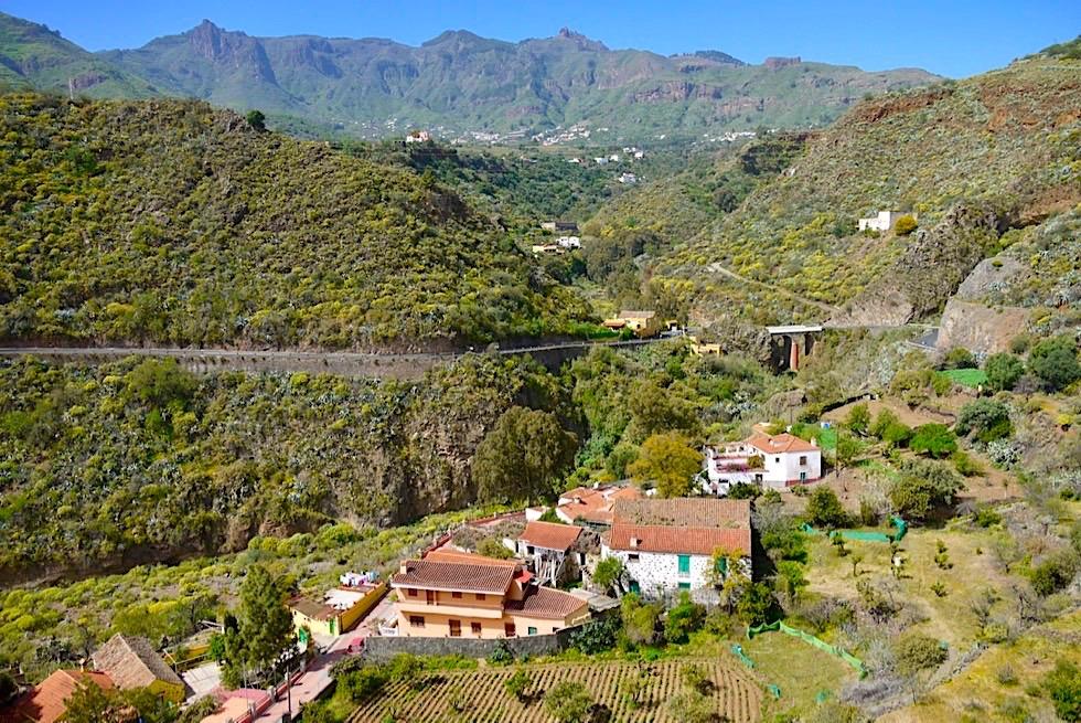 Valsequillo de Gran Canaria - Ausblick vom Markplatz ins Tal